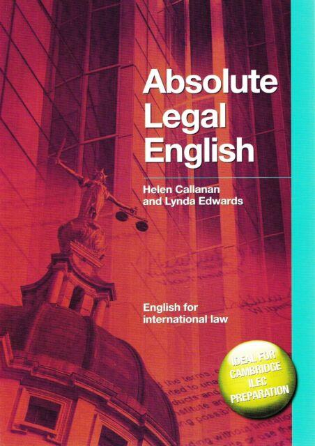 ABSOLUTE LEGAL ENGLISH for International Law & ILEC w Answer Key & Audio CD @NEW