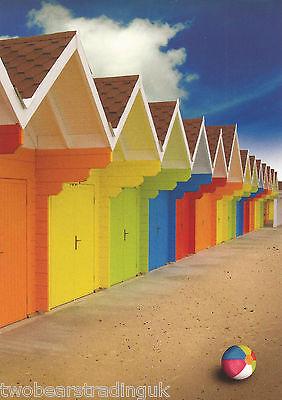 Postcard: Wonderful World - Neon Beach Huts (The Postcard (The Hut Store)