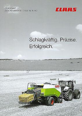 Claas Quadrant Quaderballenpresse 2007 Schlepper Prospekt gebraucht kaufen  Deutschland