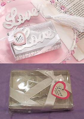 Un Regalo Caja De Diseño Amor Marcapáginas Boda/Regalo Cumpleaños Cada 9.5x7cm