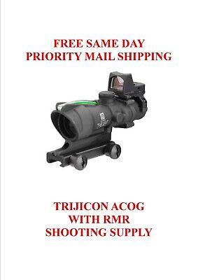 Trijicon 4x32 ACOG Dual Illum Green Chevron .223 Reticle w/Colt Knob Mount