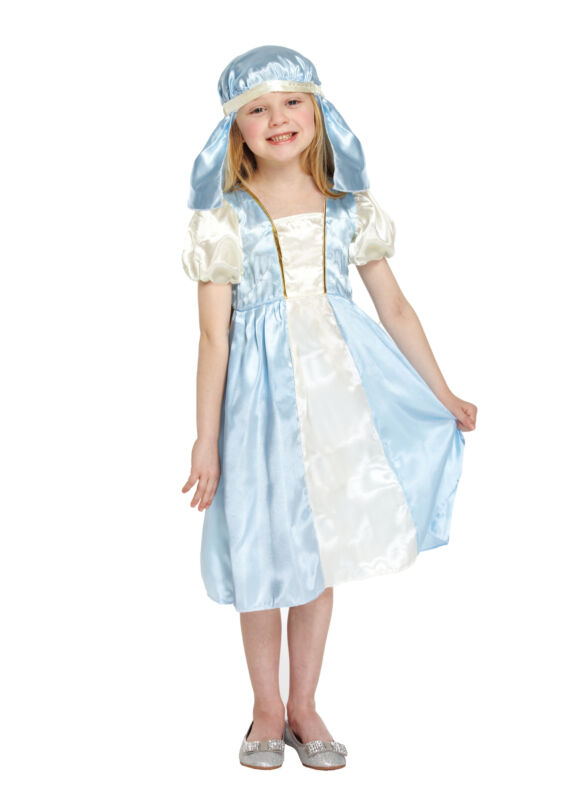 Child+Mary+Nativity+Fancy+Dress+Costume+%287-9+Year+Olds%29