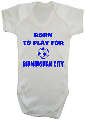 BABY BOY,GIRL,BORN TO PLAY FOR BIRMINGHAM CITY VEST,BABY GROW,ROMPER,GIFT - Party City For Boys
