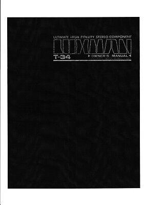 Owner's Manual-Anleitung-  für Luxman T-34