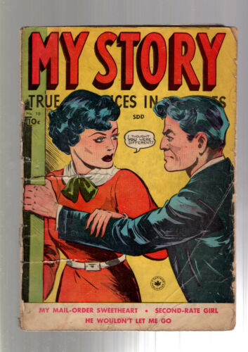 MY STORY TRUE ROMANCES IN PICTURES #10 PRE CODE RACY WOOD GOOD GIRL ART 1950