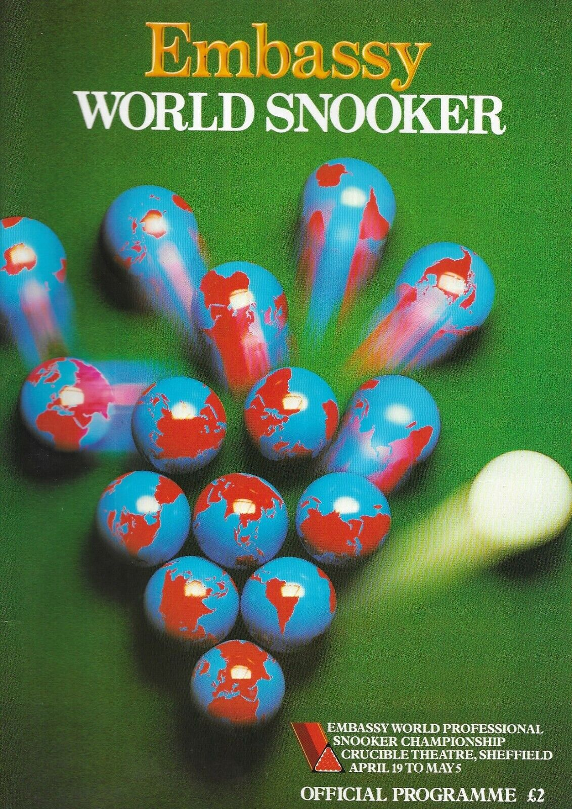Embassy World Professional Snooker Championship 1986 Programme