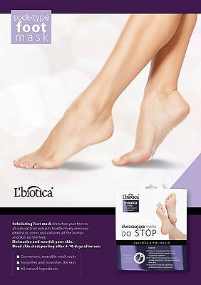 L biotica L'biotica Lbiotica Exfoliating Peel Feet 40ml 1 pair Sock Type Mask