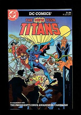 New Teen Titans  9 0  Presidents Drug Awareness Campaign Dc  B036