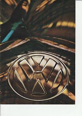 VW Volkswagon Beetle, 1600, Karmann Ghia, Kombi etc Brochure - 1966