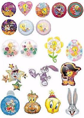 Looney Tunes Balloons Party Ware Decoration Taz Bugs Bunny Tweety Pie Helium