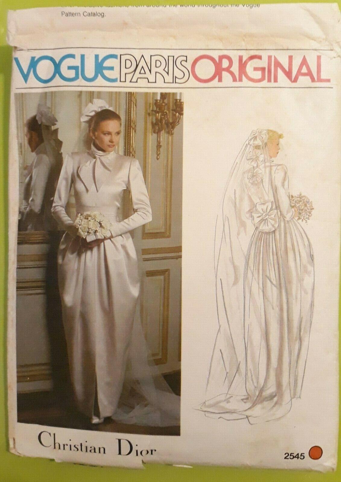 Vogue paris original, patron robe de mariée christian dior, t.12