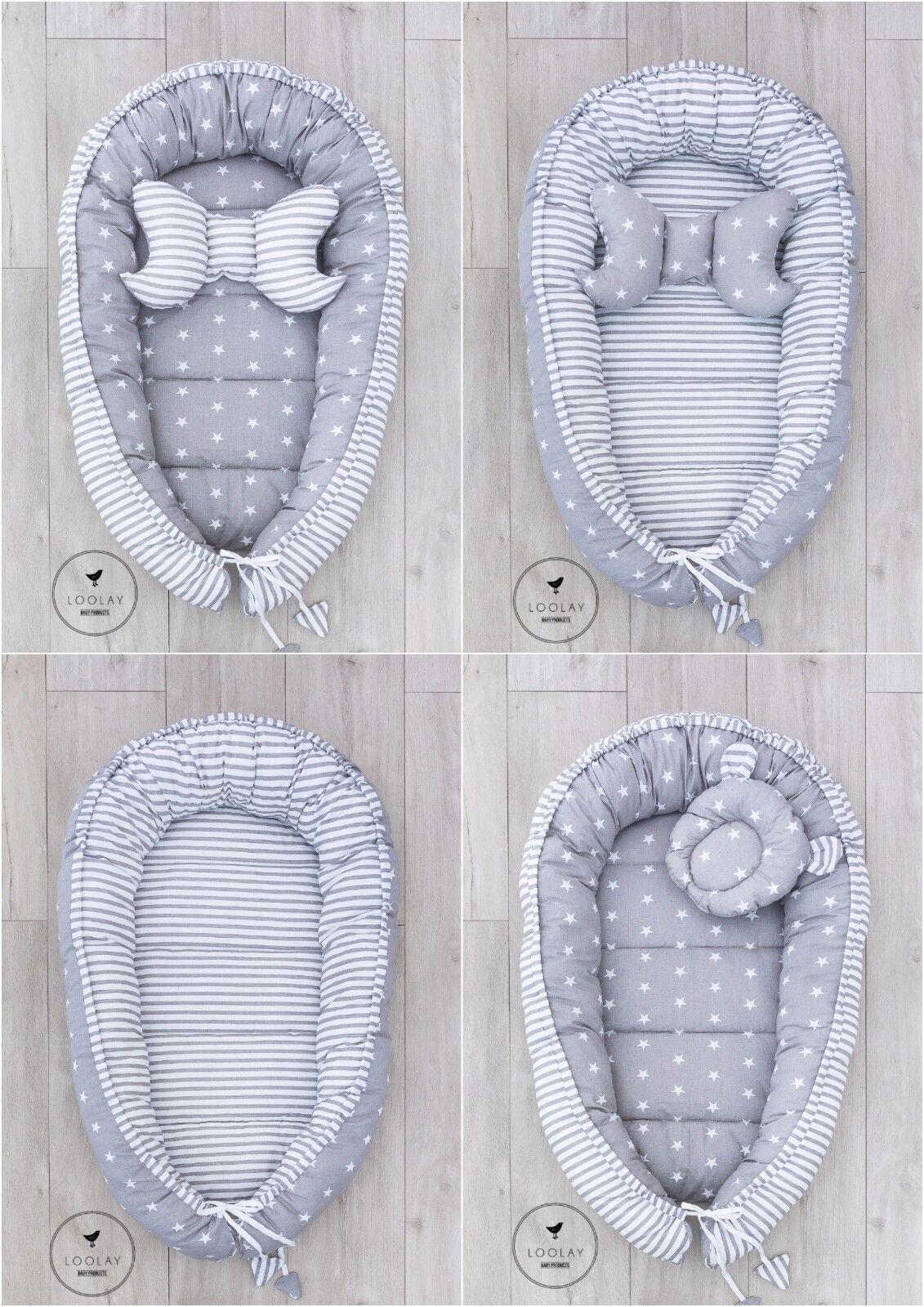 Babynestchen Kokon 2seitig Nestchen Babykokon Kuschelbett 15 MUSTER Neu LOOLAY