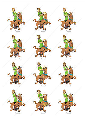 Novelty Scooby Doo & Shaggy Edible Cake Cupcake Toppers Decorations Birthday - Scooby Doo Cupcake Toppers