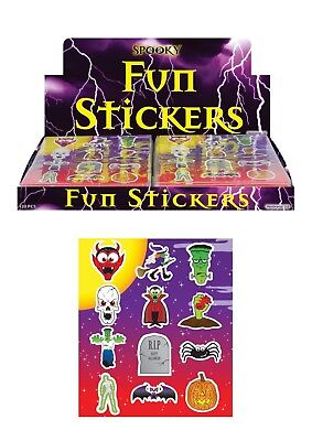 120 x Packs Halloween Spooky Stickers Trick Treat Party Bag Fillers