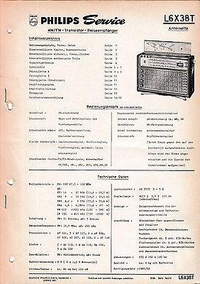 Service Manual-Anleitung für Philips L6 X38 T,Antoinette