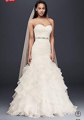 New White Mermaid Wedding Dress