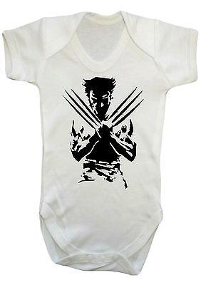 Wolverine Marvel Comic Body, Weste, Strampler, Geschenk, Babykleider Geschenk