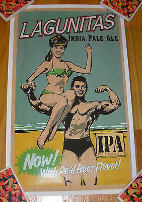 LAGUNITAS Promo Poster MUSCLE INDIA PALE ALE Retro craft beer brewing brewery