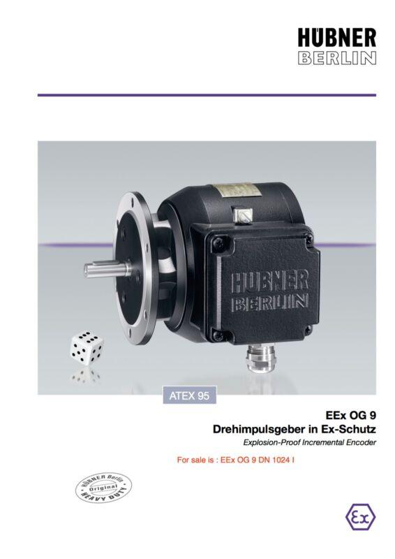 Hübner Hubner Digi Tacho Inc Encoder Og9 Eex Og 9 Dn 1024 I Dubai Eex De Ii Ct6