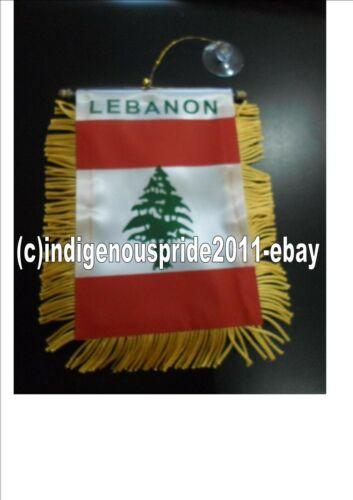 Lebanon Flag Lebanon Mini Car banner 4 car or any window.Great gift.