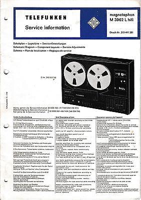 Service Manual-Anleitung für Telefunken M 3002 L