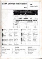 Servicio Manual De Instrucciones Para Saba Meersburg Estéreo F -  - ebay.es
