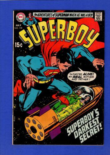 SUPERBOY #158 VF HIGH GRADE BRONZE AGE DC NEAL ADAMS