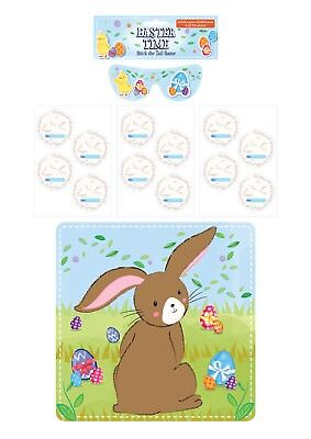 Pin The Tail On The Bunny - Stick The Tail On The Bunny - Easter Activity Game Children Pin Kids Rabbit Egg