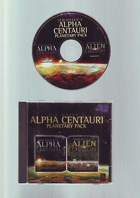 SID MEIER'S ALPHS CENTAURI PLANETARY PACK inc ALIEN CROSSFIRE pc game JC EDITION for sale  Shipping to Nigeria