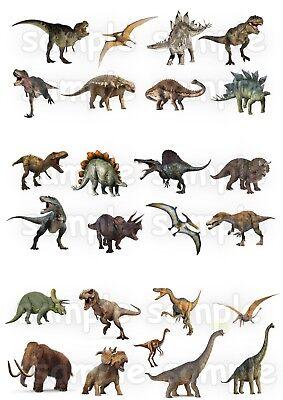 Dinosaurier Jurassic Park Eßbar Tortenbild Party Deko Muffinaufleger neu Cupcake