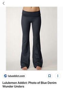 Lululemon reversible groove denim pants