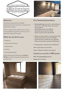 db Design - tiling painting  and renovations Brunswick Moreland Area Preview
