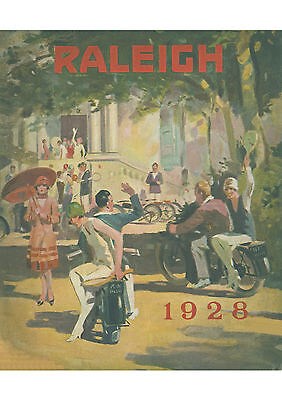 1928 Raleigh motorcycles poster