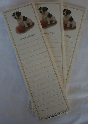 Used, Jack Russell Terrier Puppy Dog Magnetic NOTEPAD Note List Pads - SET of 3 for sale  Shipping to Canada