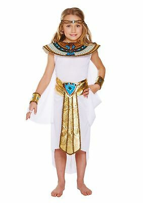 GIRLS EGYPTIAN GIRL FANCY DRESS COSTUME QUEEN CLEOPATRA WORLD BOOK DAY WEEK - Egyptian Girl Costumes