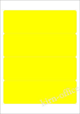 20 Etiketten Ordnerrücken 192 x 61 mm GELB selbstklebend kurz breit blickdicht