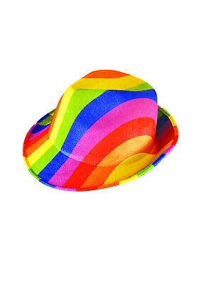 1x Regenbogen Schwul Lesbisch Trans Pride Gangster Fedora Trilby Fest Party - Schwuler Kostüm