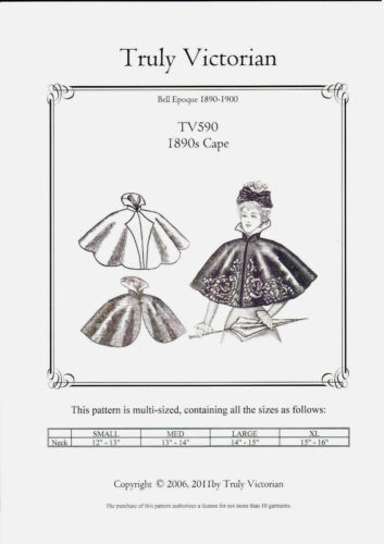 Sewing Pattern for womens 1890