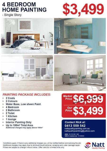 4 Bedroom Home Interioru0026#47;Exterior Painting From $599 At ...