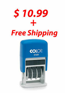 Colop Dater Self Inking Ink Rubber Date Stamp