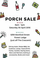 Update: everything $1 & $2!  Porch Sale - 30 April 2016 Forest Lodge Inner Sydney Preview