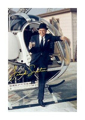 Frank Sinatra 4 A4 reproduction autograph picture poster choice of frame