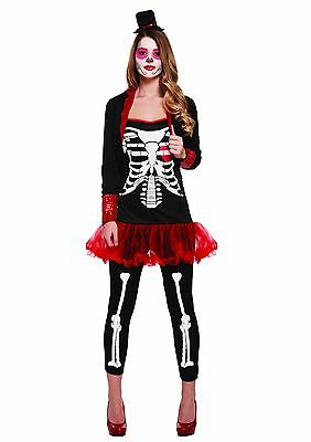 Womens Adult Gothic Day Of The Dead Halloween Fancy Dress Costume UK 8 - 12](Womens Gothic Halloween Costumes Uk)