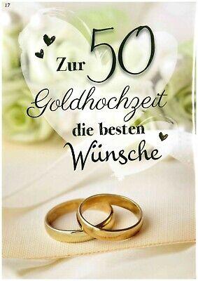 Grußkarte A4  Zum Hochzeitstag 50 Jahre Goldhochzeit Großformat XXL 17