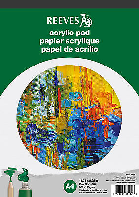 Reeves Acrylic Painting Paper Pad - 190gsm, 15 Sheets, A4 Size
