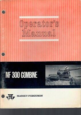Massey Ferguson Operators Manual Mf 300 Combine 125 Pgs Vintage 1965