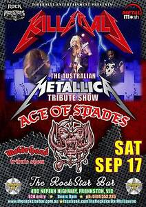 Metallica Kill 'Em All & Motorhead Ace Of Spades tribute shows Frankston Frankston Area Preview