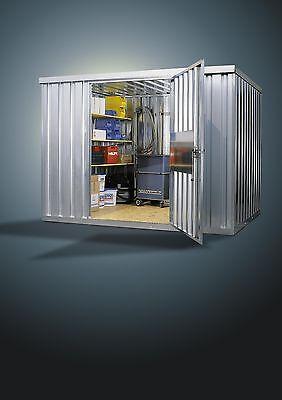 1Stk Container Lagerhalle Bauwagen Halle Gartenhaus Lager Lagerraum