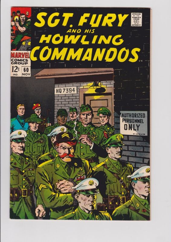 SGT. FURY  #60   9.4 NM   ORIGINAL OWNER  NICE PAGES
