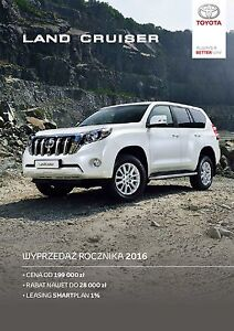 Toyota Land Cruiser 11 / 2016 catalogue brochure depliant - <span itemprop='availableAtOrFrom'> Varsovie, Polska</span> - Toyota Land Cruiser 11 / 2016 catalogue brochure depliant -  Varsovie, Polska